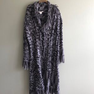 Anthropologie Relais Fringe Duster Sweater